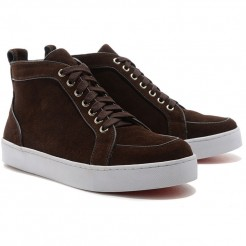 Replica Christian Louboutin Rantus Orlato Sneakers Brown Cheap Fake Shoes