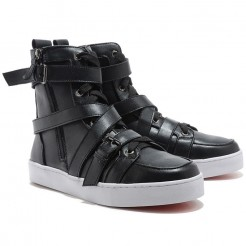 Replica Christian Louboutin Spacer Sneakers Black Cheap Fake Shoes