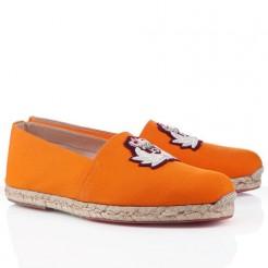 Replica Christian Louboutin Papi Hugo Sandals Orange Cheap Fake Shoes