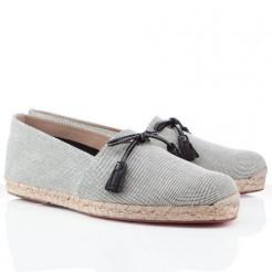 Replica Christian Louboutin Papiounet Sandals Light Grey Cheap Fake Shoes