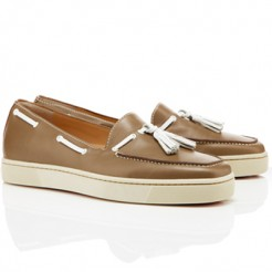 Replica Christian Louboutin Biarritz Sandals Taupe Cheap Fake Shoes