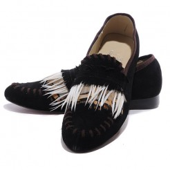 Replica Christian Louboutin Croc Woodoo Loafers Black Cheap Fake Shoes