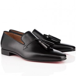 Replica Christian Louboutin Daddy Loafers Black Cheap Fake Shoes