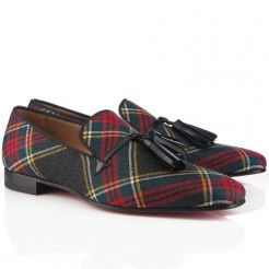 Replica Christian Louboutin Daddy Loafers Red Cheap Fake Shoes