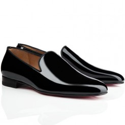 Replica Christian Louboutin Dandy Loafers Black Cheap Fake Shoes