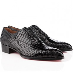 Replica Christian Louboutin Platers Loafers Black Cheap Fake Shoes