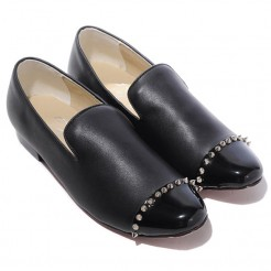 Replica Christian Louboutin Rollerboy Loafers Black Cheap Fake Shoes