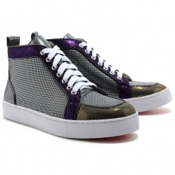 Replica Christian Louboutin Rantus Orlato Sneakers Black Cheap Fake Shoes