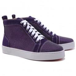 Replica Christian Louboutin Louis Strass Sneakers Parme Cheap Fake Shoes