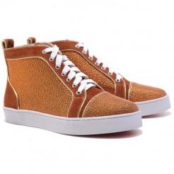 Replica Christian Louboutin Louis Strass Sneakers Brown Cheap Fake Shoes