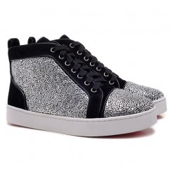 Replica Christian Louboutin Mickael Sneakers Grey Cheap Fake Shoes