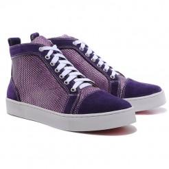 Replica Christian Louboutin Louis Rhinestones Sneakers Parme Cheap Fake Shoes