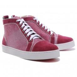 Replica Christian Louboutin Louis Rhinestones Sneakers Red Cheap Fake Shoes