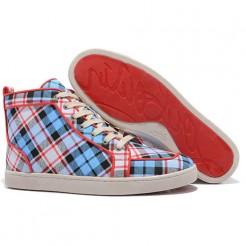 Replica Christian Louboutin Rantulow Sneakers Blue Cheap Fake Shoes