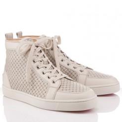Replica Christian Louboutin Rantulow Sneakers White Cheap Fake Shoes