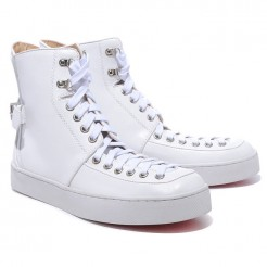Replica Christian Louboutin Alfie Sneakers White Cheap Fake Shoes