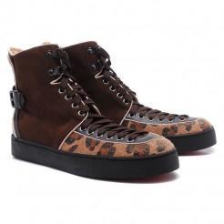 Replica Christian Louboutin Alfie Sneakers Brown Cheap Fake Shoes