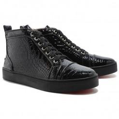 Replica Christian Louboutin Louis Sneakers Black Cheap Fake Shoes