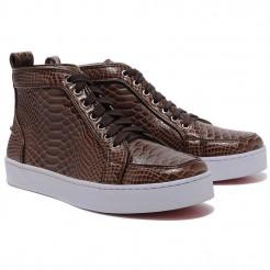 Replica Christian Louboutin Louis Sneakers Brown Cheap Fake Shoes
