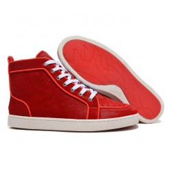Replica Christian Louboutin Rantulow Sneakers Red Cheap Fake Shoes