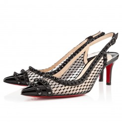 Replica Christian Louboutin Manovra 80mm Sandals Black Cheap Fake Shoes