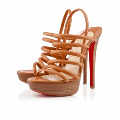 Replica Christian Louboutin Vildo 140mm Sandals Fauve Cheap Fake Shoes