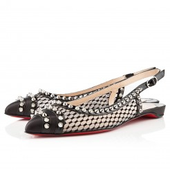 Replica Christian Louboutin Manovra Flat Sandals Black Cheap Fake Shoes