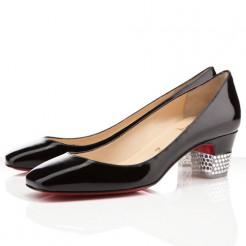 Replica Christian Louboutin Gloria 40mm Pumps Black Cheap Fake Shoes