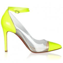 Replica Christian Louboutin Bis Un Bout 100mm Pumps Yellow Cheap Fake Shoes