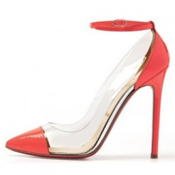 Replica Christian Louboutin Bis Un Bout 120mm Pumps Red Cheap Fake Shoes