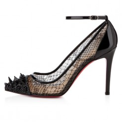 Replica Christian Louboutin Picks And Co 100mm Pumps Black Cheap Fake Shoes