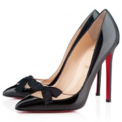 Replica Christian Louboutin Love Me 120mm Pumps Black Cheap Fake Shoes