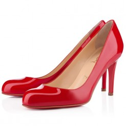 Replica Christian Louboutin Simple 100mm Pumps Red Cheap Fake Shoes