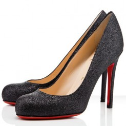 Replica Christian Louboutin Simple 100mm Pumps Black Cheap Fake Shoes