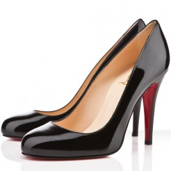 Replica Christian Louboutin Ron Ron 100mm Pumps Black Cheap Fake Shoes