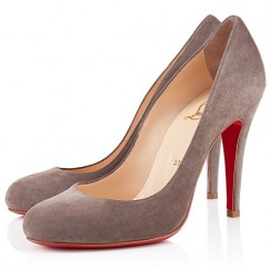 Replica Christian Louboutin Ron Ron 100mm Pumps Taupe Cheap Fake Shoes