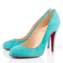 Replica Christian Louboutin Ron Ron 100mm Pumps Caraibes Cheap Fake Shoes