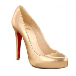 Replica Christian Louboutin Rolando Hidden 120mm Pumps Gold Cheap Fake Shoes