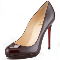 Replica Christian Louboutin Filo 120mm Pumps Dark Red Cheap Fake Shoes
