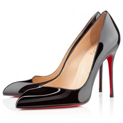 Replica Christian Louboutin Corneille 100mm Pumps Black Cheap Fake Shoes