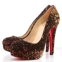 Replica Christian Louboutin Bianca 140mm Pumps Gold Cheap Fake Shoes