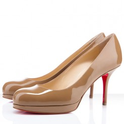 Replica Christian Louboutin Prorata 80mm Pumps Camel Cheap Fake Shoes