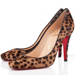 Replica Christian Louboutin Particule 100mm Pumps Leopard Cheap Fake Shoes