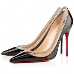 Replica Christian Louboutin Paulina 100mm Pumps Black Cheap Fake Shoes
