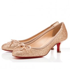 Replica Christian Louboutin Neo Mars 40mm Pumps Nude Cheap Fake Shoes