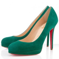 Replica Christian Louboutin New Simple 120mm Pumps Green Cheap Fake Shoes