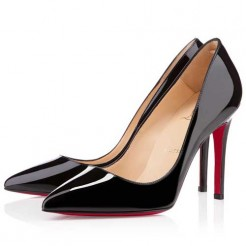 Replica Christian Louboutin Pigalle 100mm Pumps Black Cheap Fake Shoes