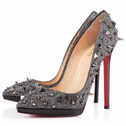 Replica Christian Louboutin Pigalili Plato 140mm Pumps Grey Cheap Fake Shoes