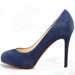 Replica Christian Louboutin New Declic 120mm Pumps Navy Cheap Fake Shoes