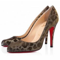 Replica Christian Louboutin Decollete 868 100mm Pumps Leopard Cheap Fake Shoes